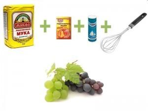 рецепт творожных кексов - сухие компоненты маффина