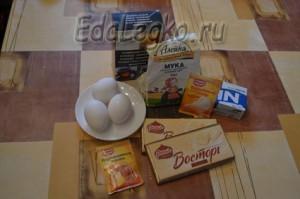 продукты для шоколадного маффина