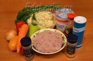 цветная капуста в духовке - продукты