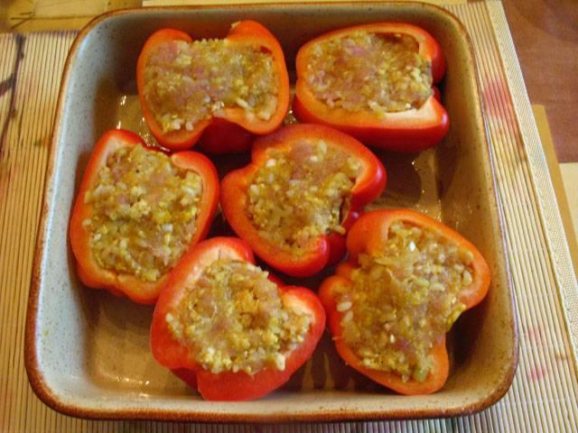 перец фаршированный запеченный в духовке рецепт с фото