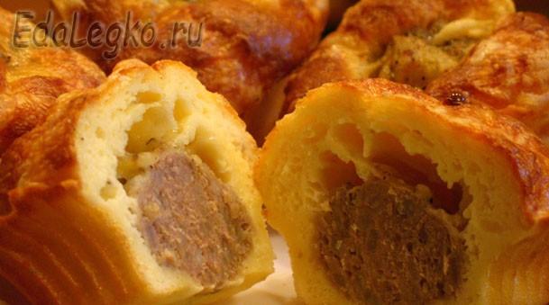 Пирожки с мясом — оригинальные мясные маффины