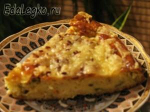 рецепт творожного пирога - порция