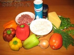 перец фаршированный мясом - продукты