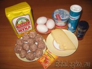 пирожки с мясом - продукты
