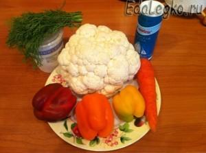продукты для салата из цветной капусты