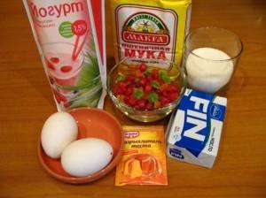 кекс на кефире - продукты