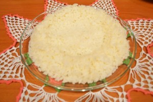 Рис с фаршем - тако рис - 1 слой