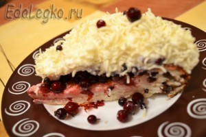 Брусничный пирог - порция