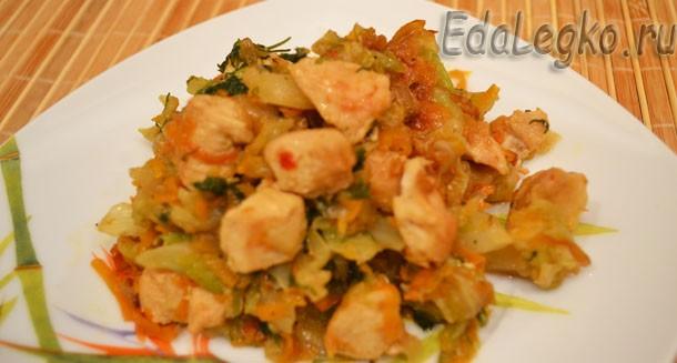 Рецепт бигуса с куриным филе