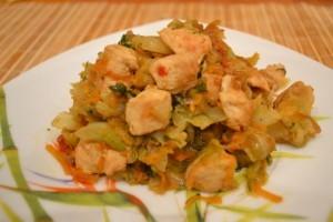 Рецепт бигуса с куриным филе - порция