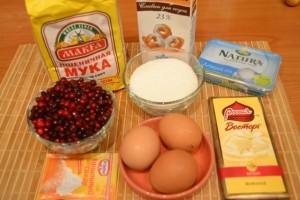 Брусничный пирог - продукты