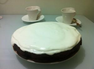кабачковый торт -  с кремом