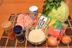 капустная запеканка - продукты