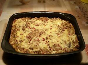 капустная запеканка - с сыром