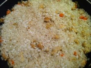куриный плов - рис