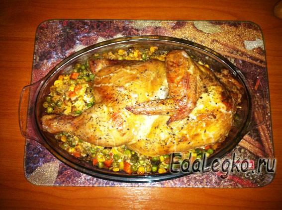 курица в сметанном соусе - готово