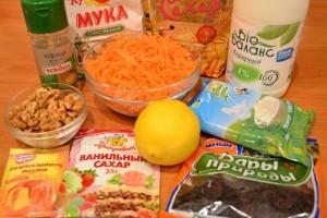 морковный торт - продукты