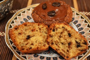 рецепт маффинов кофе и шоколад - разлом