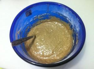 ржаная выпечка маффины с яблоками - тесто
