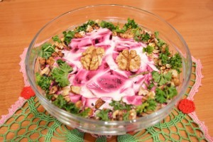 салат со свеклой - порция