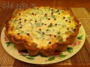 Лоранский пирог - на тарелке