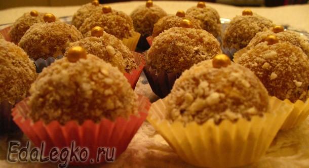 Новогодний десерт — рецепт домашних конфет