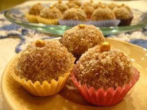 рецепт домашних конфет - курага с орехами - порция