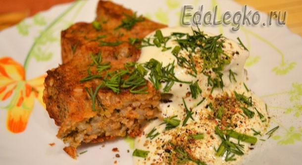 Рецепт мясной запеканки — с рисом и зеленью