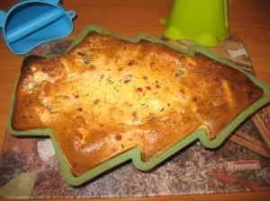 рецепт пирога с грибами - в форме