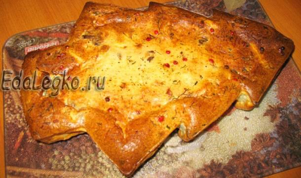 Новогодняя выпечка — рецепт пирога с грибами