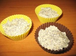 лимонный кекс - с маковой начинкой - в формочках