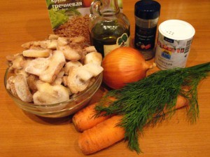 гречка с грибами - продукты