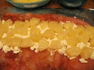куриное филе с ананасами - 2й слой