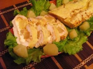 куриное филе с ананасами - готово