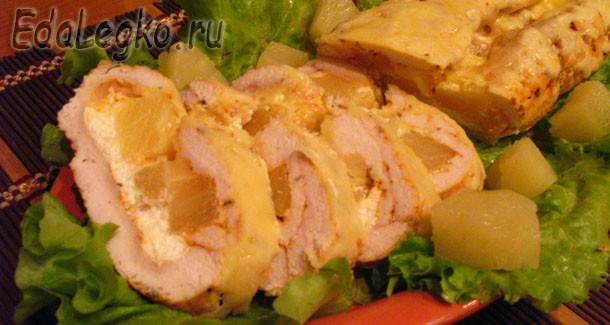 Куриное филе с ананасами — блюдо на Рождество