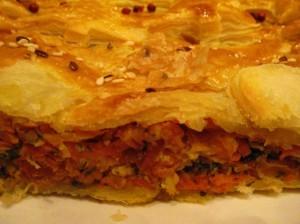 пирог с морковью - разрез