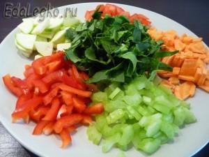 постные щи - смесь овощей