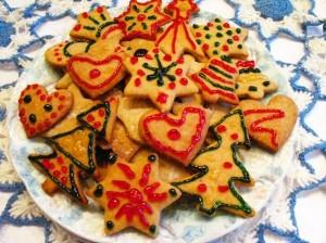 рождественское печенье - много