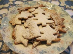 рождественское печенье - с пудрой