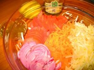 салат из моркови и яблок - компоненты