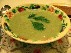 суп-пюре из брокколи - порция