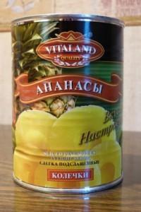 запеченный ананас - консервированный ананасы