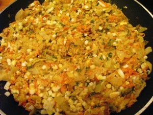 Пирог с капустой и яйцом - начинка