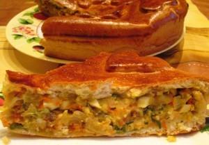 Пирог с капустой и яйцом - порция