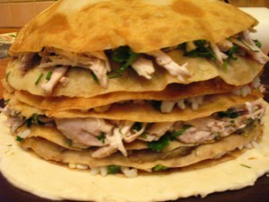 как приготовить курник - слои с блинами