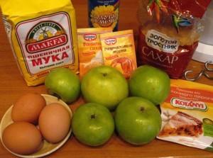 простая шарлотка - продукты