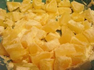 вкусные кексы - белая глазурь - ананасы