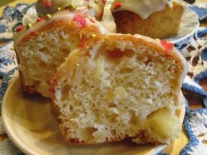 вкусные кексы - белая глазурь - разрез