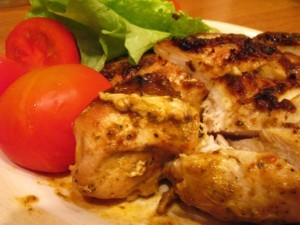 куриная грудка в соусе - порция