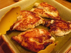 куриная грудка в соусе - в форме